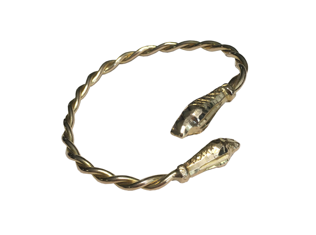 Serpent Bracelet – Solid Fused Gold Wire